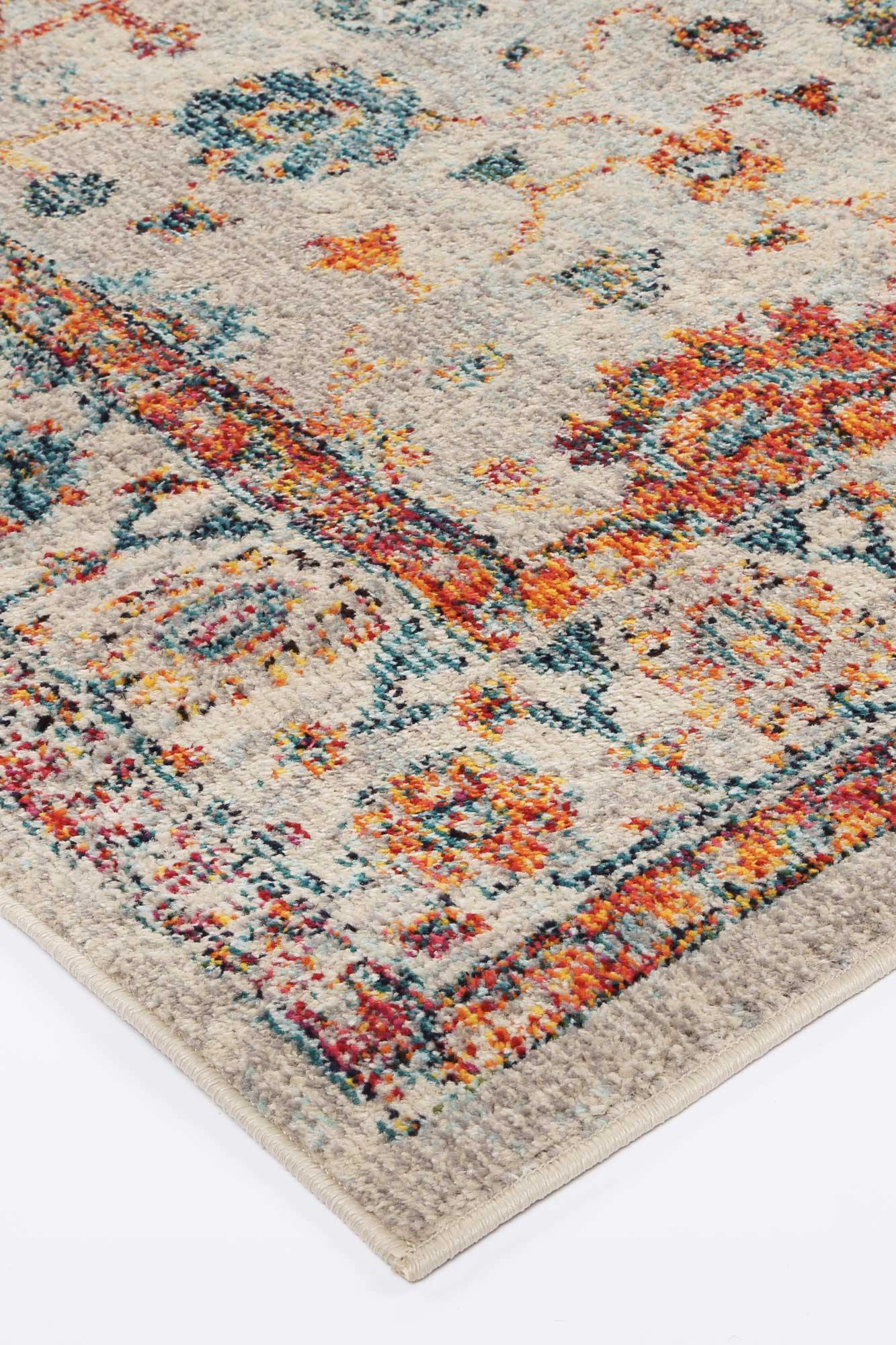 Ziva Cream Multi Traditional Rug - The Rugs