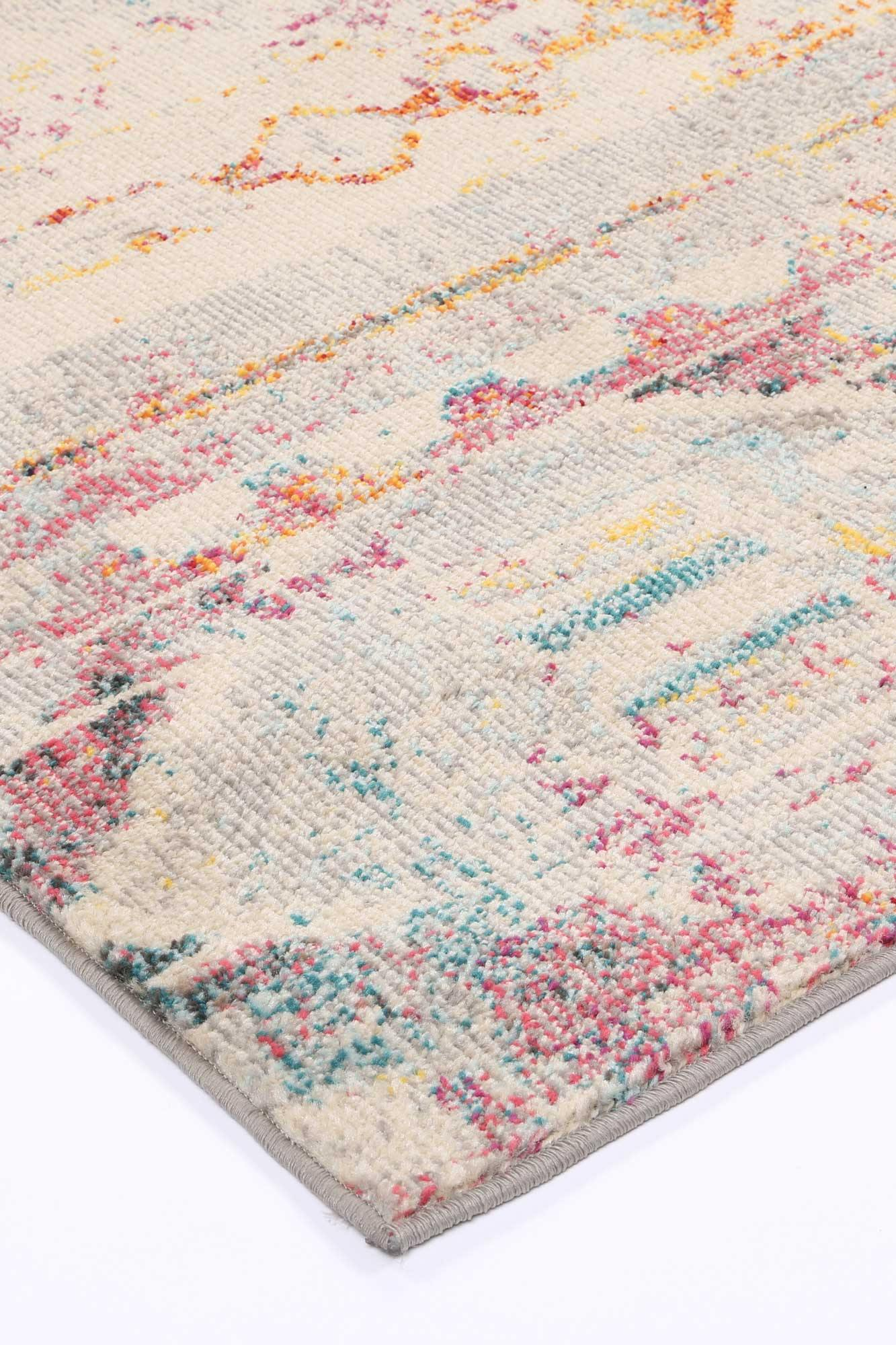 Ziva Multi Sunset Geometric Rug - The Rugs