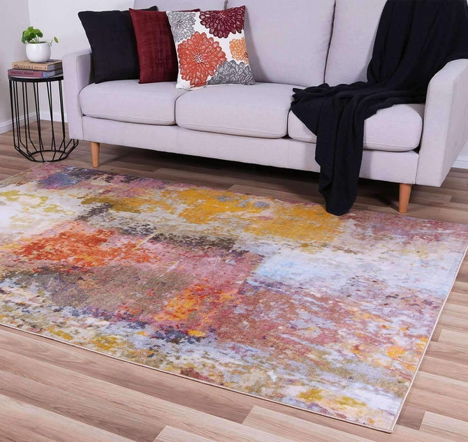 Ascot Multi Colour Abstract Rug, [cheapest rugs online], [au rugs], [rugs australia]