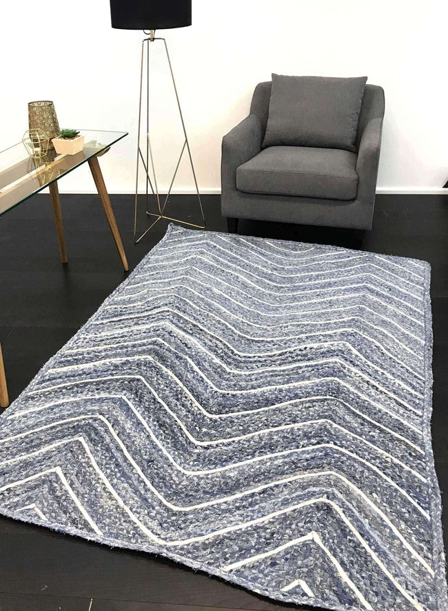 Cameron Natural Chevron Denim Rug, [cheapest rugs online], [au rugs], [rugs australia]