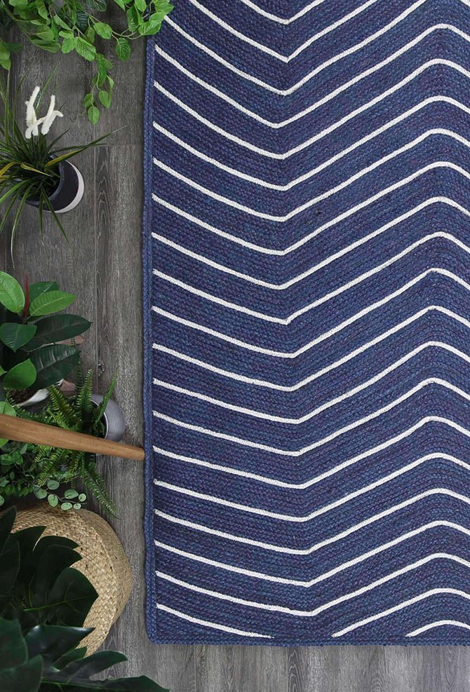 Cameron Natural Chevron Navy Rug, [cheapest rugs online], [au rugs], [rugs australia]