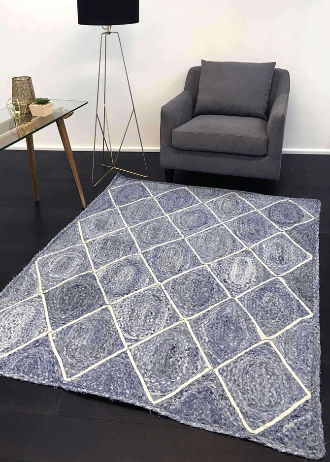 Cameron Natural Diamond Denim Rug, [cheapest rugs online], [au rugs], [rugs australia]