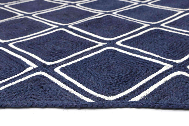 Cameron Natural Parquetry Navy Rug, [cheapest rugs online], [au rugs], [rugs australia]