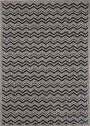 Capella Beige and Black Geometric Chevron Patterned Ikat Rug, [cheapest rugs online], [au rugs], [rugs australia]