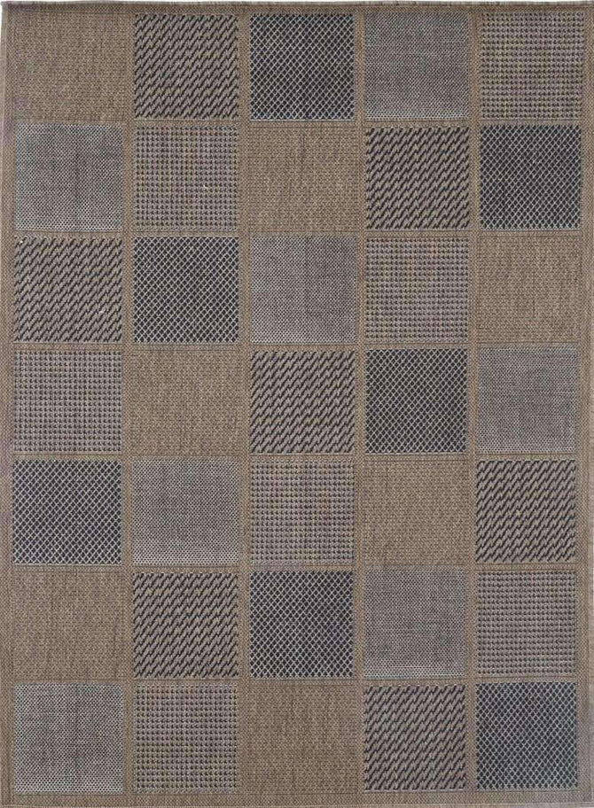 Capella Beige Patchwork Square Shape Patterned Ikat Rug, [cheapest rugs online], [au rugs], [rugs australia]