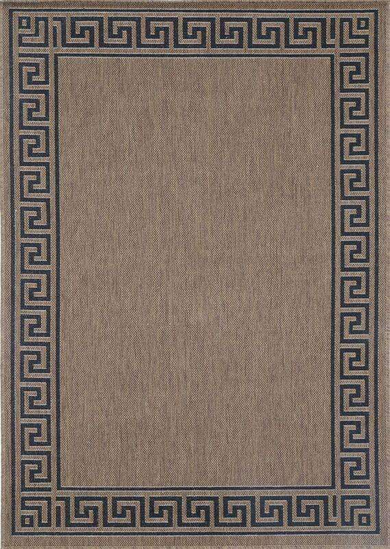 Capella Brown Beige Bordered Patterned Rug, [cheapest rugs online], [au rugs], [rugs australia]