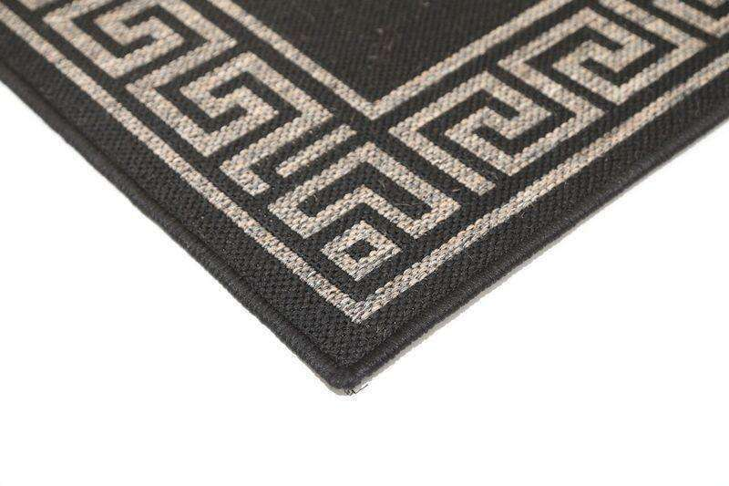 Capella Grey Bordered Patterned Rug, [cheapest rugs online], [au rugs], [rugs australia]