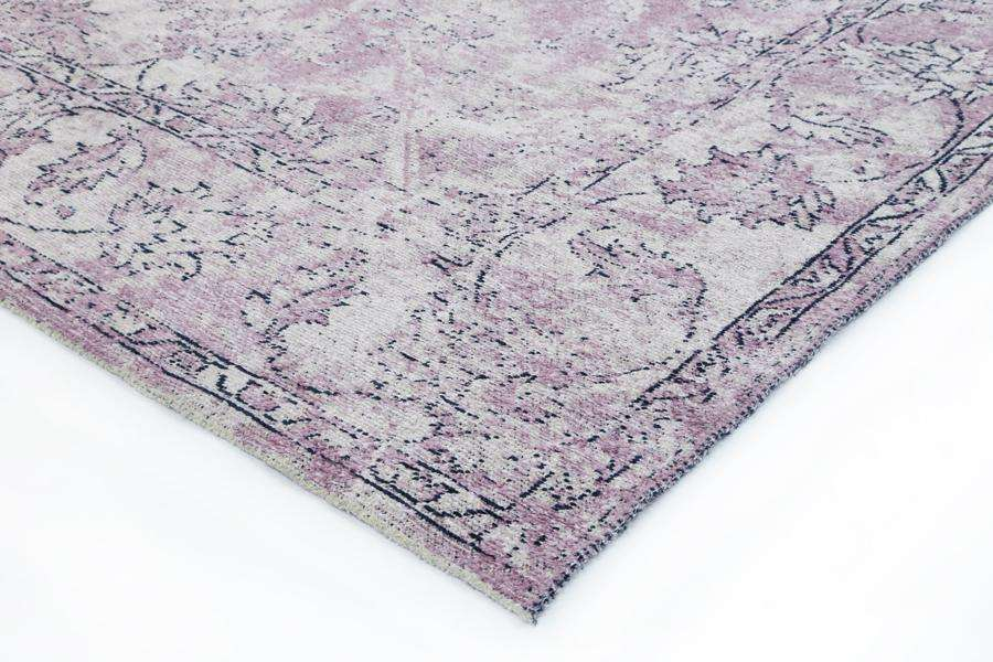 Classic Whimsical Boarder Lilac Distressed Rug, [cheapest rugs online], [au rugs], [rugs australia]