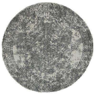 Classic Whimsical Medallion Grey Distressed Round Rug, [cheapest rugs online], [au rugs], [rugs australia]