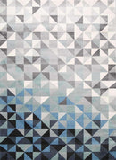 Divinity Triangle Blue Grey Modern Rug, [cheapest rugs online], [au rugs], [rugs australia]