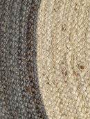 Dot Border Jute Round Grey Rug, [cheapest rugs online], [au rugs], [rugs australia]