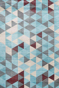 Dreamscape Blue and Multi Geometric Rug, [cheapest rugs online], [au rugs], [rugs australia]