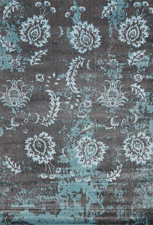 Dreamscape Grey And Blue Floral Pattern Rug, [cheapest rugs online], [au rugs], [rugs australia]