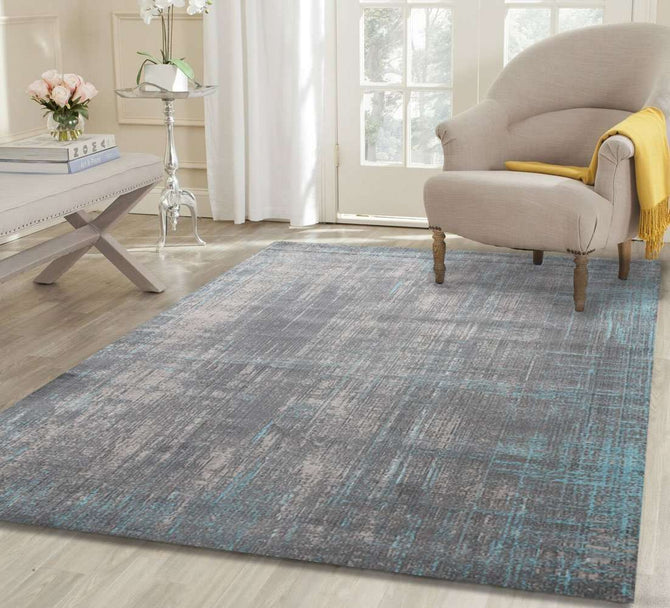 Dreamscape Grey And Blue Horizontal Vertical Washed Stripes, [cheapest rugs online], [au rugs], [rugs australia]