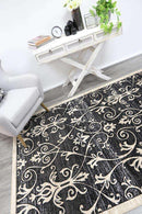 Eden Grey and Beige Ikat Abstract Vines Rug, [cheapest rugs online], [au rugs], [rugs australia]