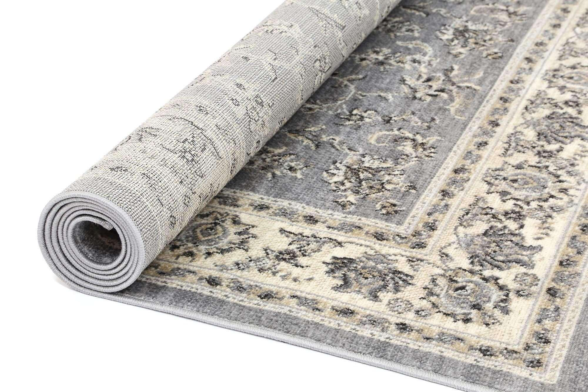 Eden Grey and Cream Traditional Boarder Rug, [cheapest rugs online], [au rugs], [rugs australia]