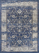 Eden Navy Blue Ziegler Distressed Traditional Ikat Rug, [cheapest rugs online], [au rugs], [rugs australia]