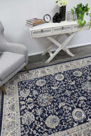 Eden Navy Blue Ziegler Ikat Traditional  Rug, [cheapest rugs online], [au rugs], [rugs australia]