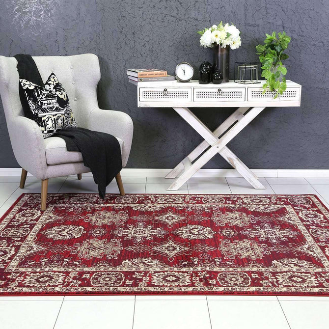 Eden Red Ziegler Traditional Ikat Rug, [cheapest rugs online], [au rugs], [rugs australia]