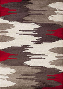 Ella Beige and Red Abstract Rug, [cheapest rugs online], [au rugs], [rugs australia]