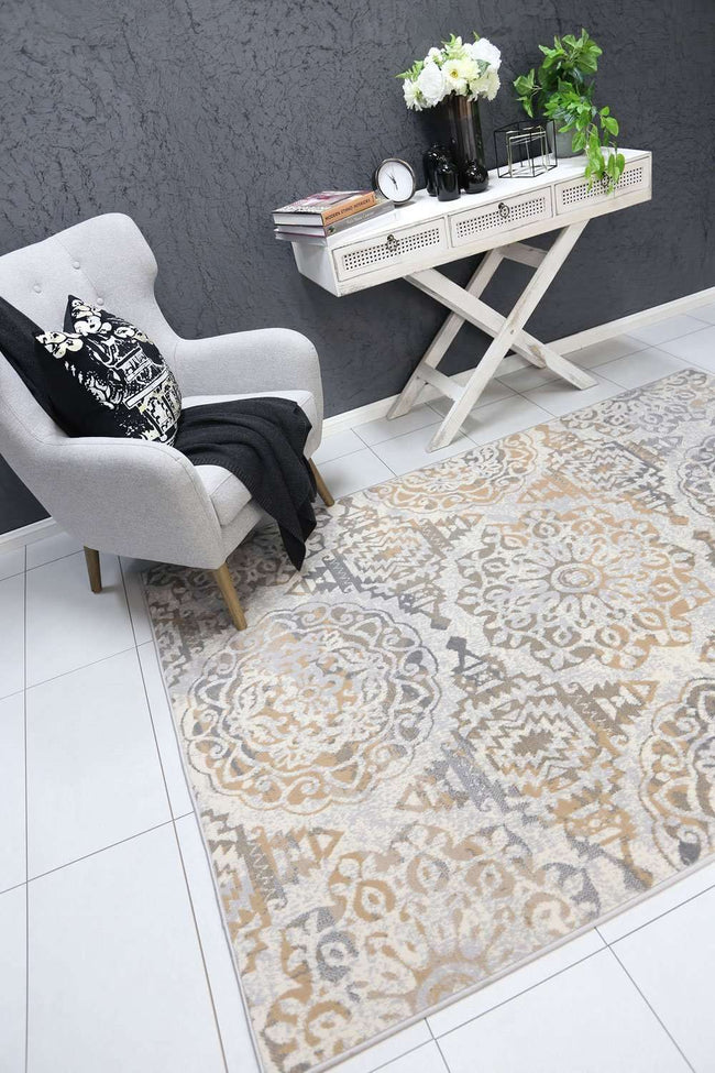 Emory Beige and Grey Distressed Classic Rug, [cheapest rugs online], [au rugs], [rugs australia]