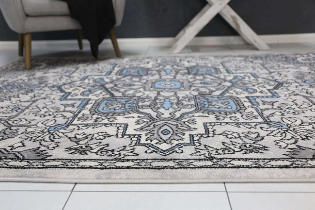 Emory Blue and Grey Distressed Vintage Rug, [cheapest rugs online], [au rugs], [rugs australia]