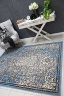 Emory Grey and Blue Distressed Vintage Rug, [cheapest rugs online], [au rugs], [rugs australia]