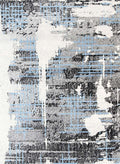 Emory Grey and Blue Modern Urban Distressed Rug, [cheapest rugs online], [au rugs], [rugs australia]