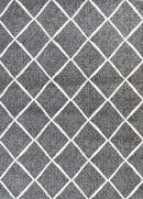 Emory Grey Cross Diamond Rug, [cheapest rugs online], [au rugs], [rugs australia]