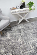 Emory Grey Geometric Zig Zag Patterned Rug, [cheapest rugs online], [au rugs], [rugs australia]
