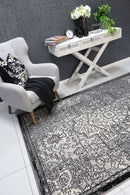 Emory Light Grey and Dark Grey Distressed Vintage Rug, [cheapest rugs online], [au rugs], [rugs australia]