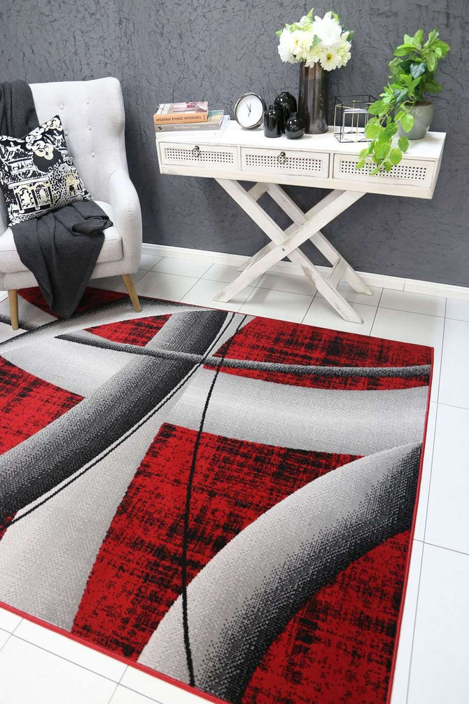 Emory Red Modern Artistic Rug, [cheapest rugs online], [au rugs], [rugs australia]