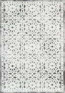 Everly Grey Modern Distressed Damask Rug, [cheapest rugs online], [au rugs], [rugs australia]
