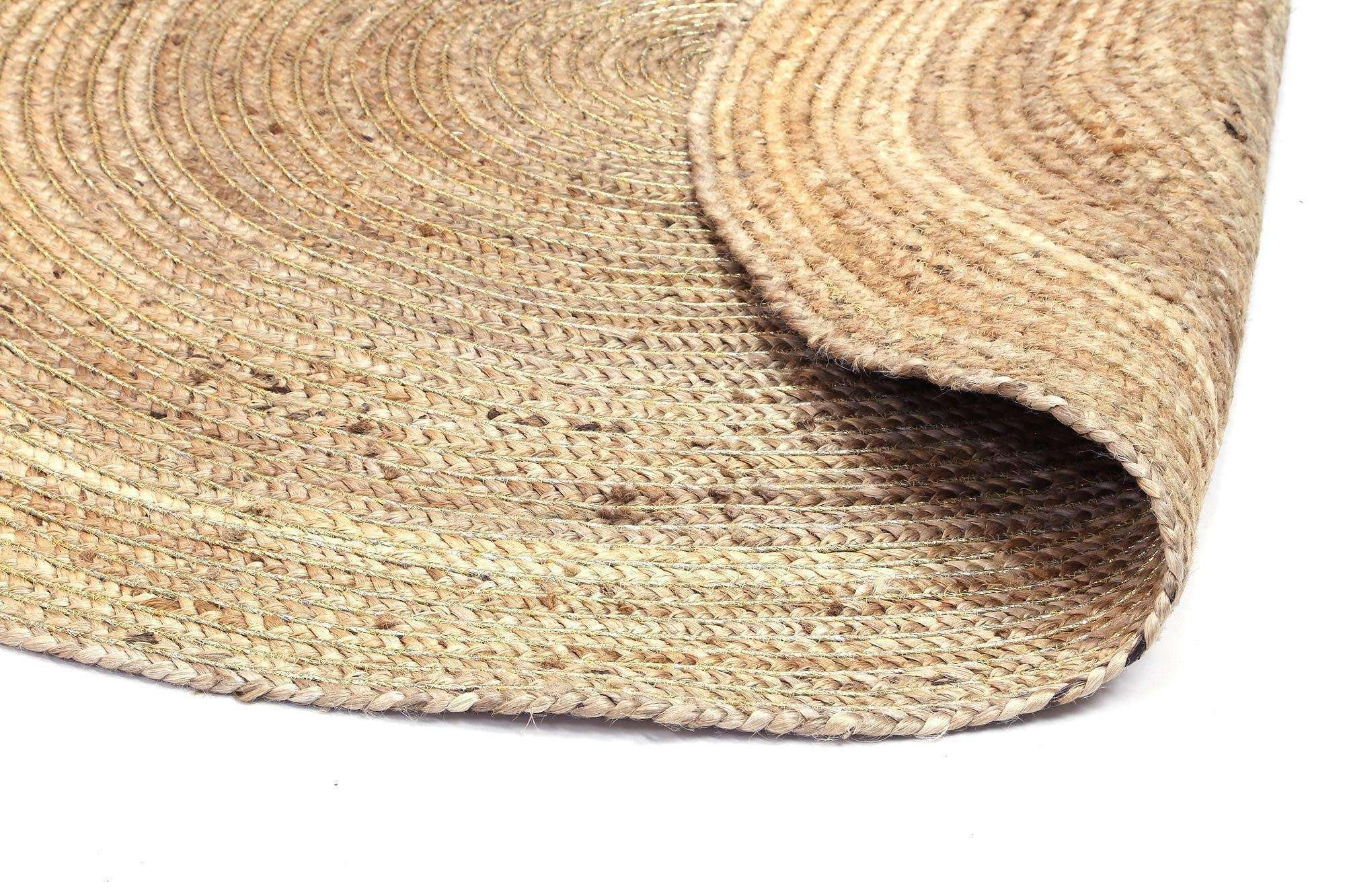 Faro Gold Jute Round Rug, [cheapest rugs online], [au rugs], [rugs australia]