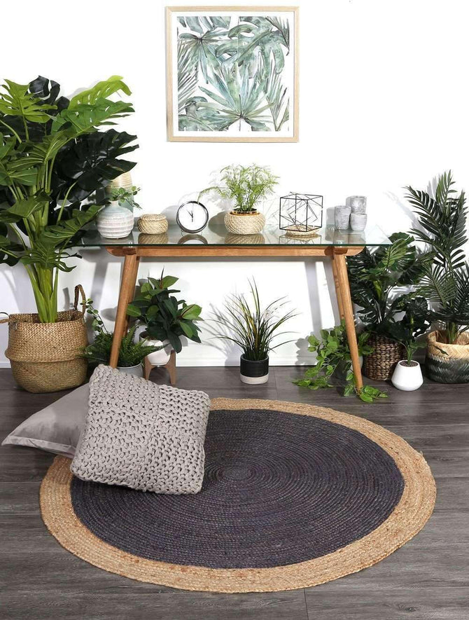 Faro Grey Centre Jute Round Rug, [cheapest rugs online], [au rugs], [rugs australia]