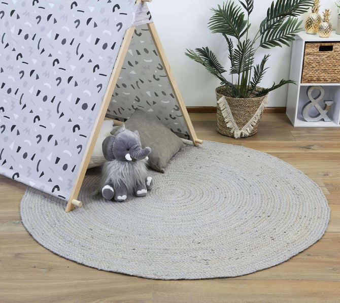 Faro Jute Silver Round Rug, [cheapest rugs online], [au rugs], [rugs australia]