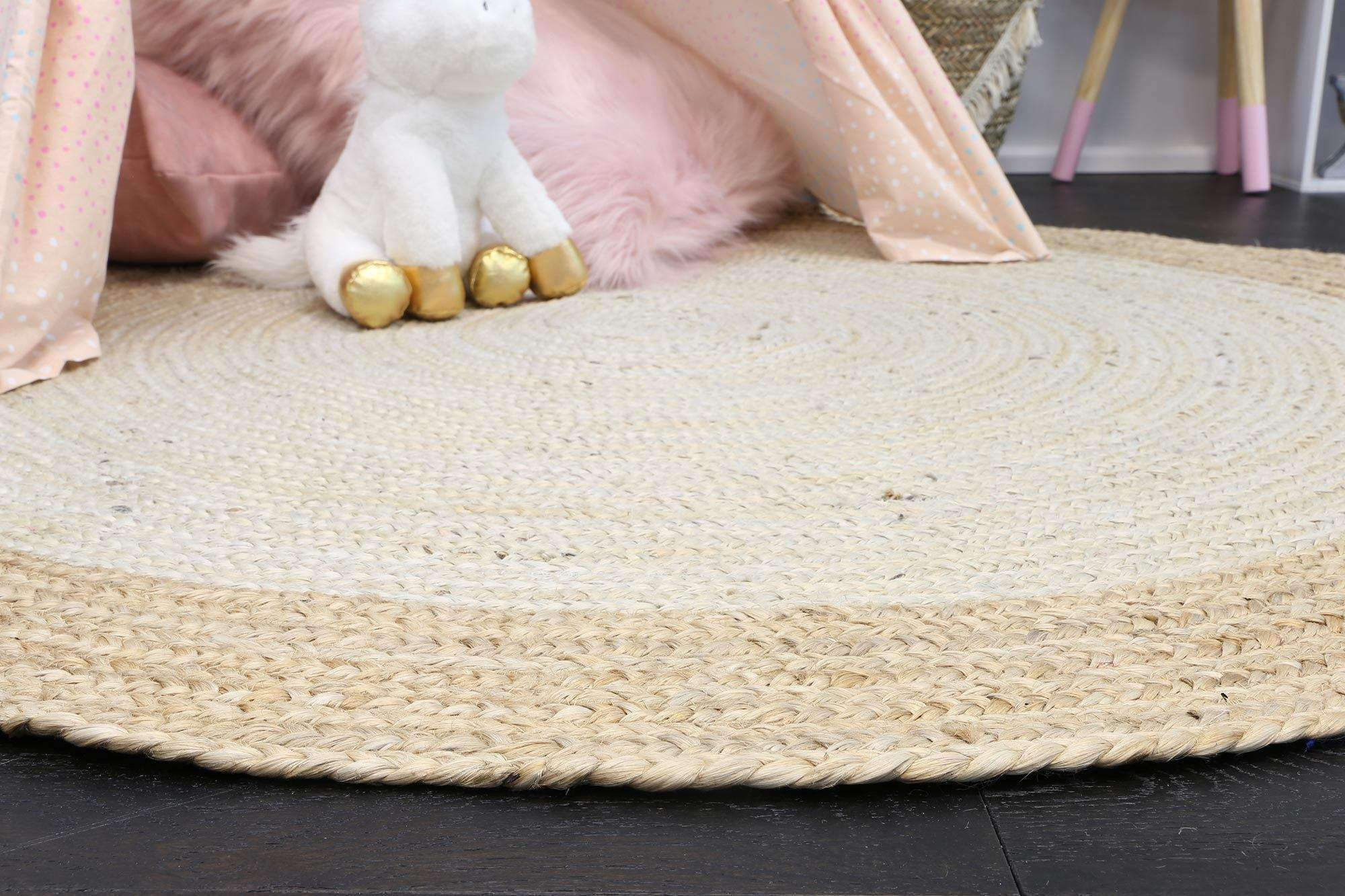 Faro Pearl Centre Jute Round Rug, [cheapest rugs online], [au rugs], [rugs australia]
