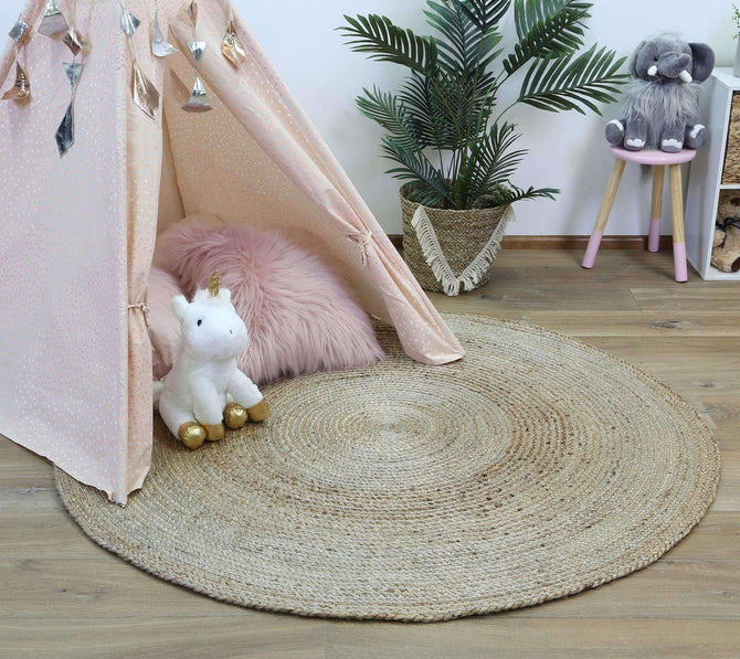 Faro Silver Jute Round Rug, [cheapest rugs online], [au rugs], [rugs australia]
