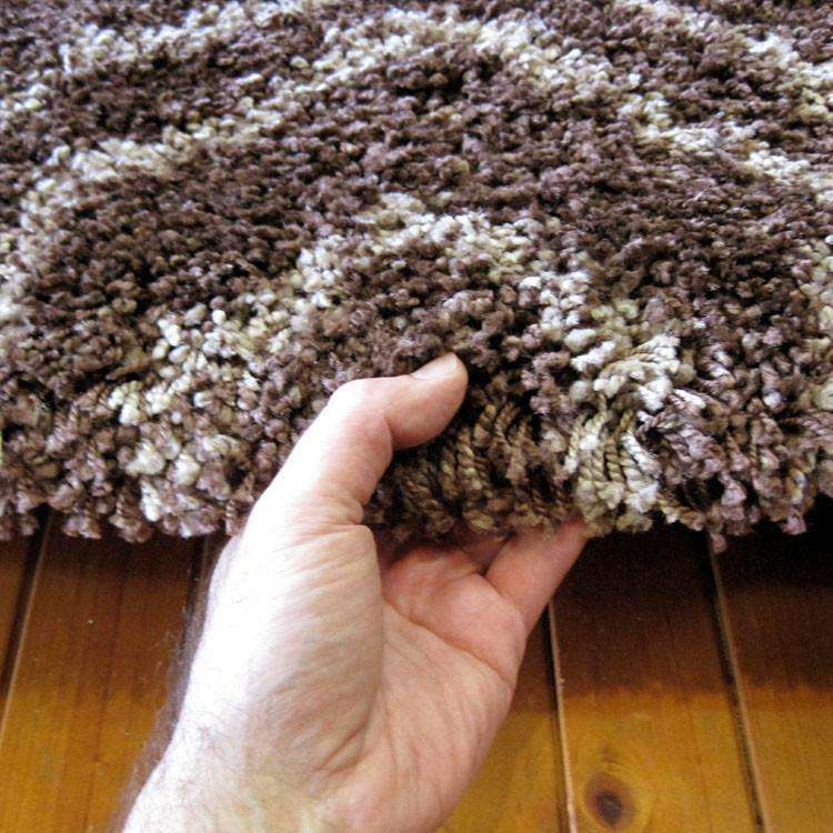 Hermitance Patterned Shag 046 Brown Rug, [cheapest rugs online], [au rugs], [rugs australia]