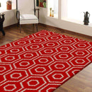 Hermitance Patterned Shag 046 Red Rug, [cheapest rugs online], [au rugs], [rugs australia]