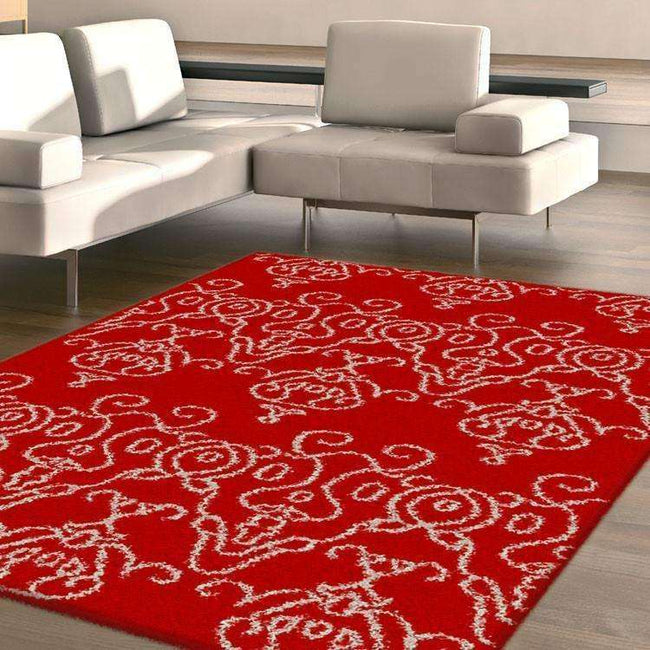 Hermitance Patterned Shag 922 Red Rug, [cheapest rugs online], [au rugs], [rugs australia]