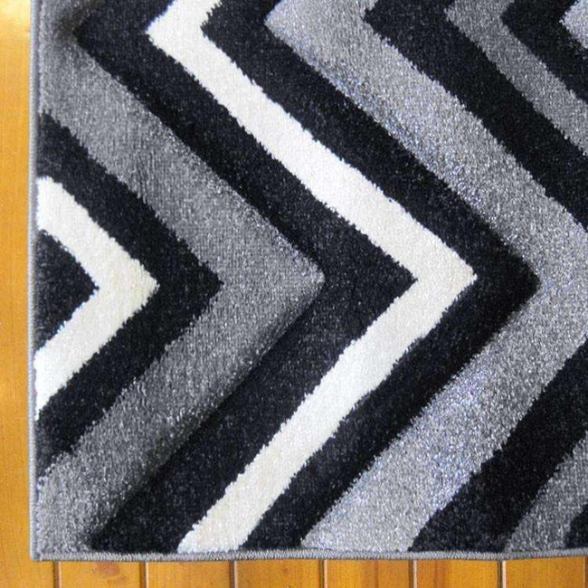 Icon Modern Collection 554 Black Runner Rug, [cheapest rugs online], [au rugs], [rugs australia]