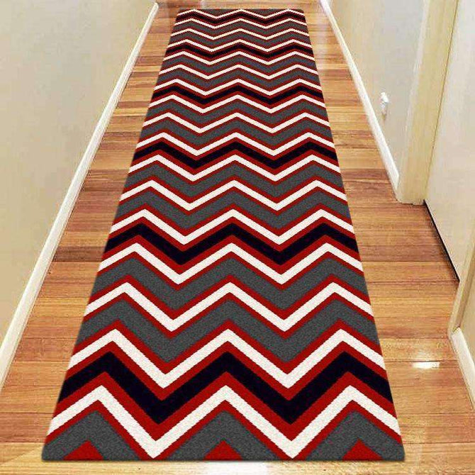 Icon Modern Collection 554 Red Runner Rug, [cheapest rugs online], [au rugs], [rugs australia]