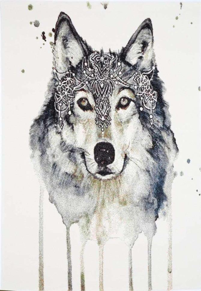 Iconic Wolf Picture Modern Rug, [cheapest rugs online], [au rugs], [rugs australia]