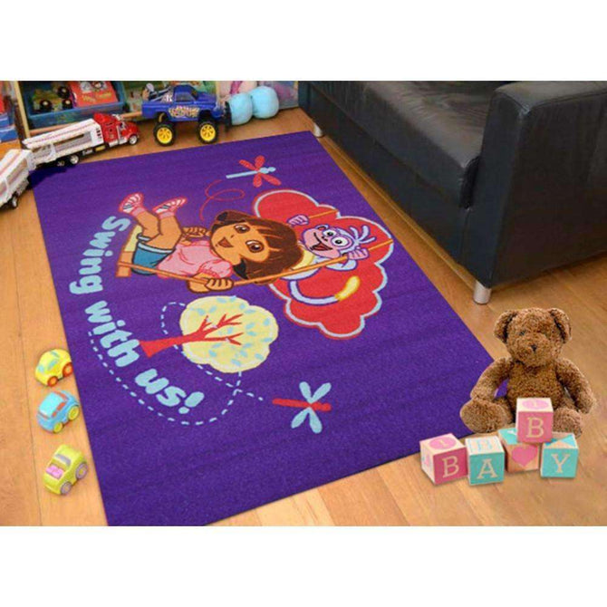 Kids Dora The Explorer Swing Fun Play Rug