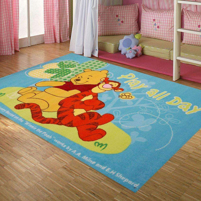 Kids Play all day Pooh Fun Play Rug, [cheapest rugs online], [au rugs], [rugs australia]