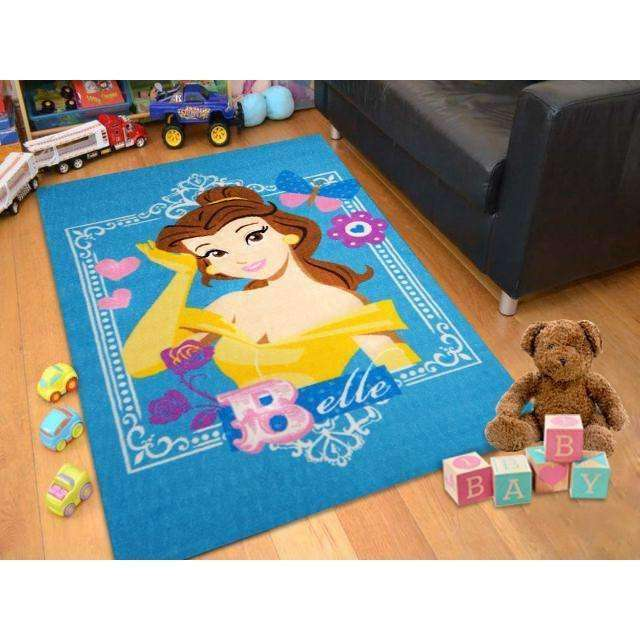 Kids Princess Belle Blue Fun Play Rug, [cheapest rugs online], [au rugs], [rugs australia]