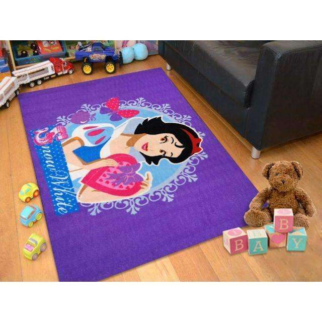 Kids Snow White Purples Fun Play Rug, [cheapest rugs online], [au rugs], [rugs australia]