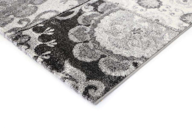 Kingston Grey Patchwork Textured Pile Rug, [cheapest rugs online], [au rugs], [rugs australia]