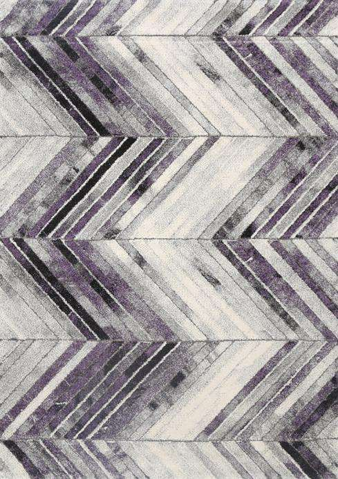 Kingston Purple Chevron Textured Pile Rug, [cheapest rugs online], [au rugs], [rugs australia]